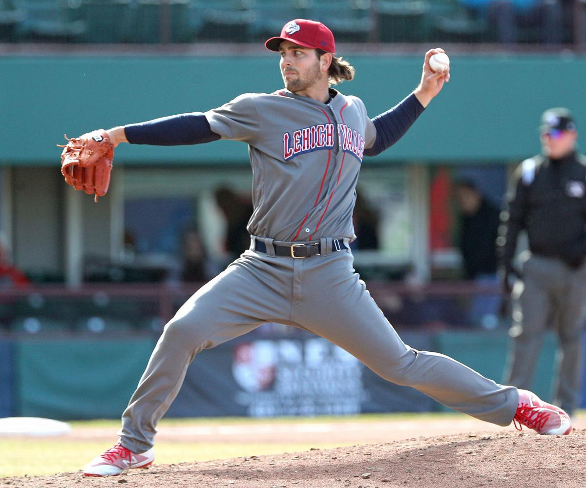 former cal state bakersfield left hander austin davis is 0 1 with a 360 in four games of relief at triple a lehigh valley pa