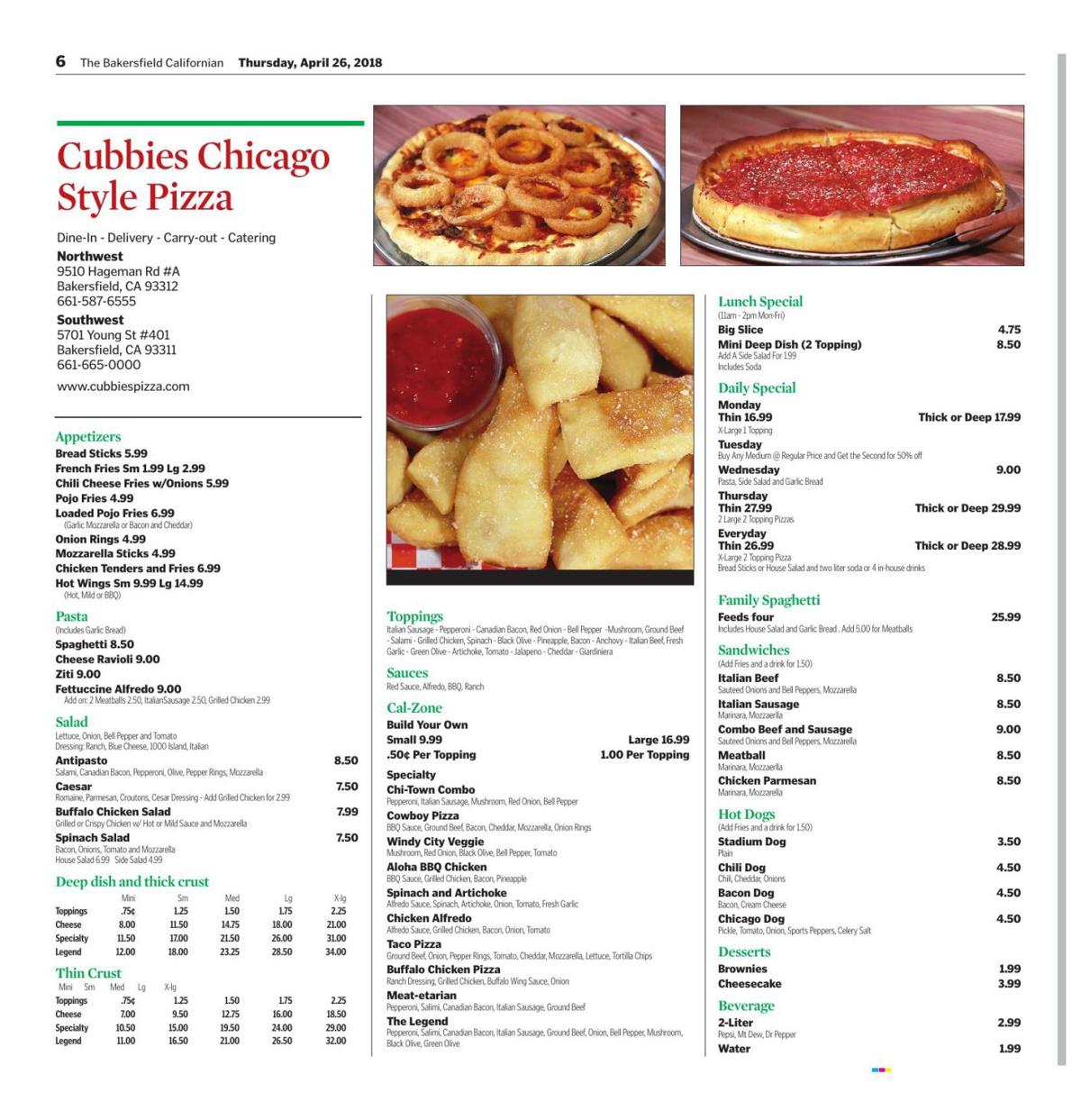 Cubbies Chicago Style Pizza