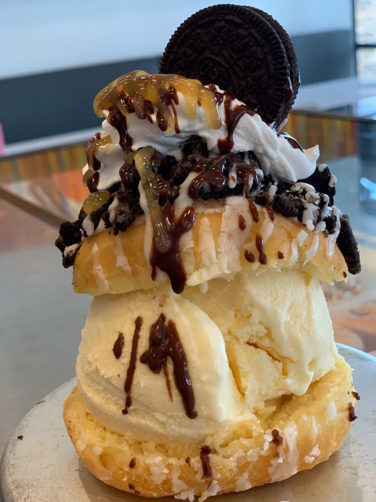 ice cream donut cookies and cream