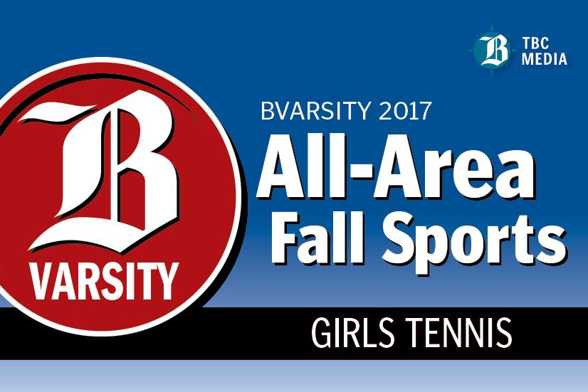 2017 BVarsity All-Area Girls Tennis Team graphic