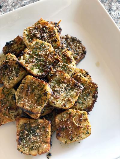 Hasselback waffle potatoes