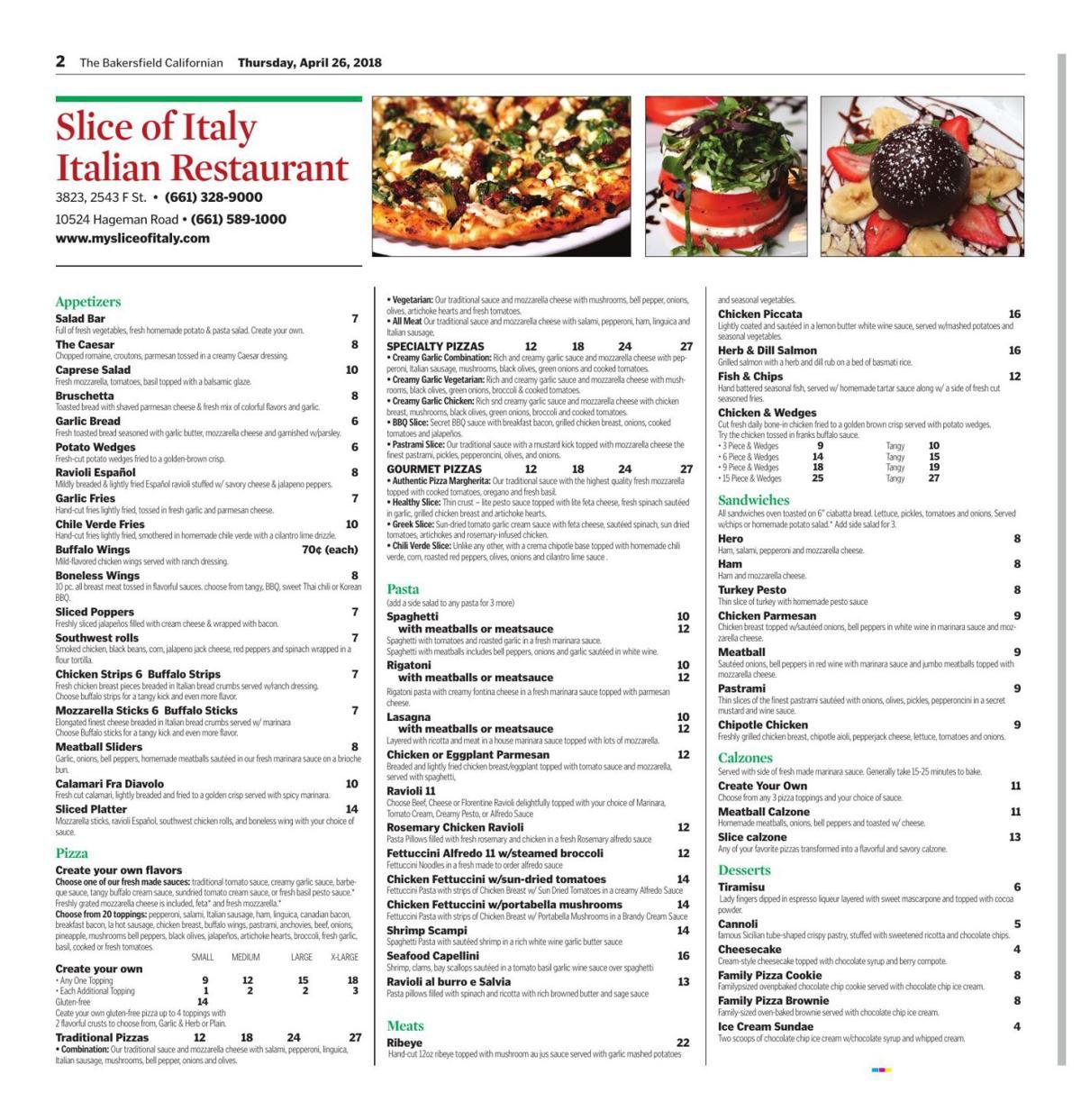 Slice of Italy Italian Restaurant