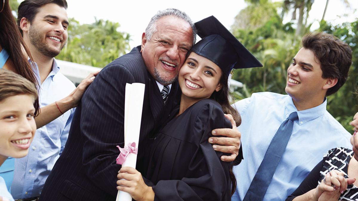 student gradutating