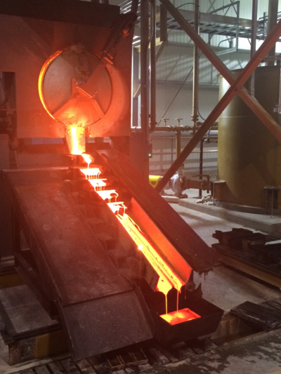 First gold pour at Soledad Mountain