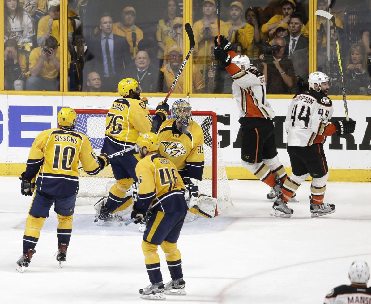 Ducks Predators Hockey
