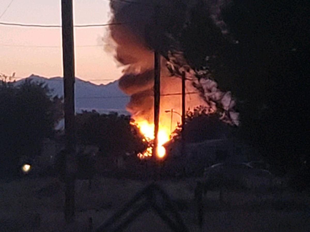 Earthquake in Ridgecrest and fire
