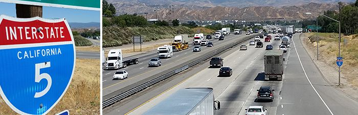 Interstate 5 in Santa Clarita