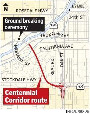 Centennial Corridor map