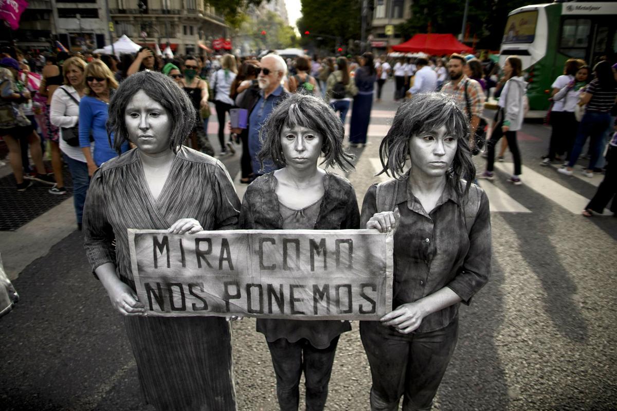 APTOPIX Argentina International Women's Day