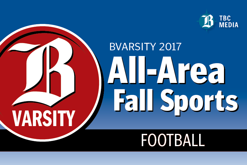 2017 BVarsity All-Area Football Teams graphic