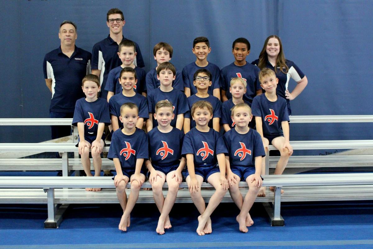 Local boys gymnastics team places second