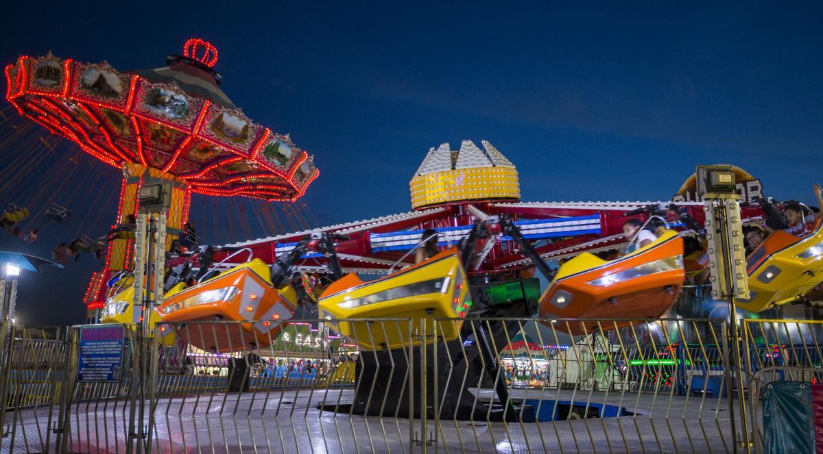 Kern County Fair: Rides at night