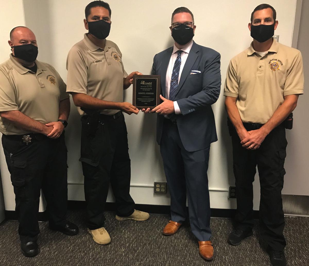 Kern County Probation Department MADD Award 2020 1
