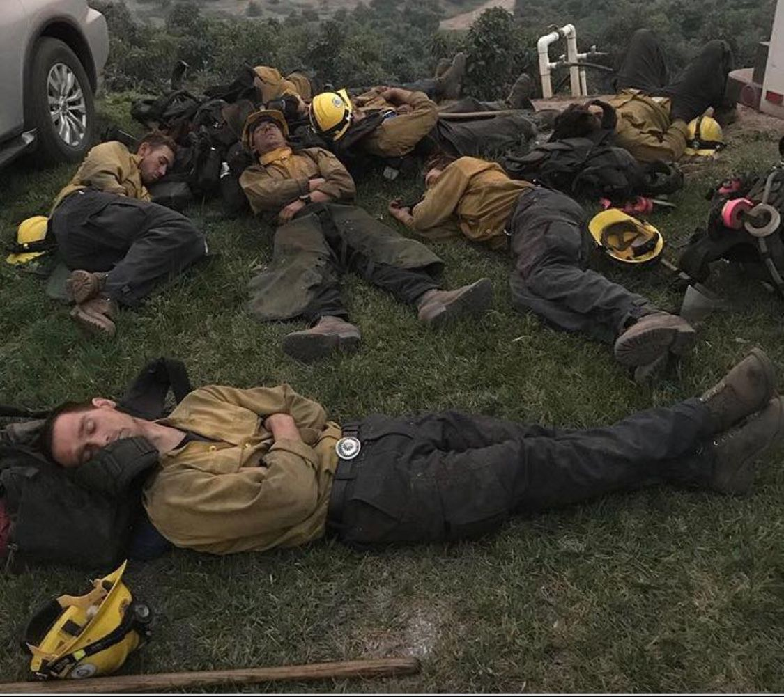 Kern County firefighters in Ventura