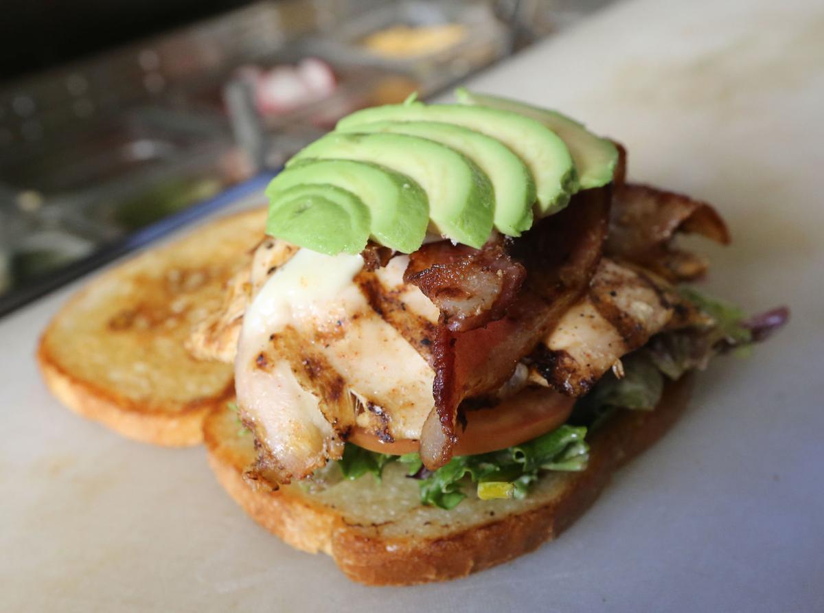 The Spot sandwich inside