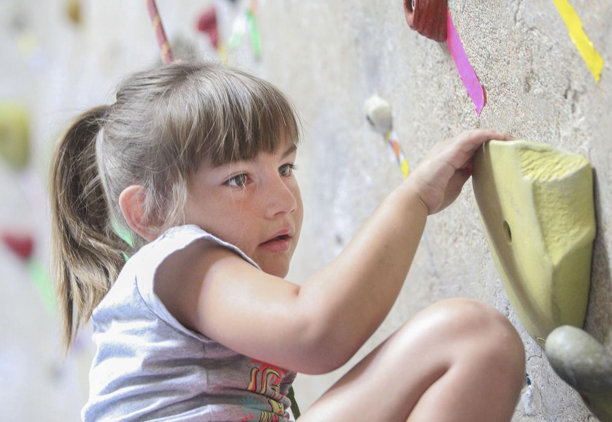 Courageous — and confident — kids climb at event for special needs children