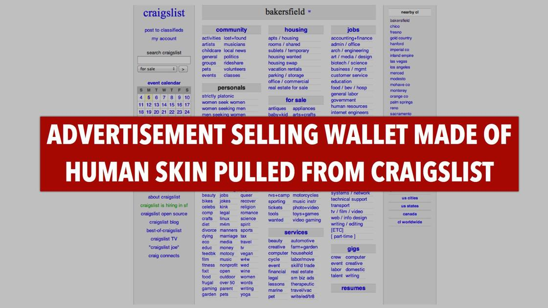 Investigators Looking Into Whether Ad For Human Skin Wallet Was