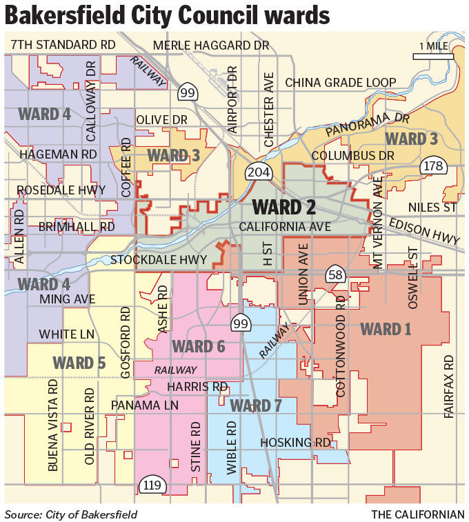 Bakersfield City Map