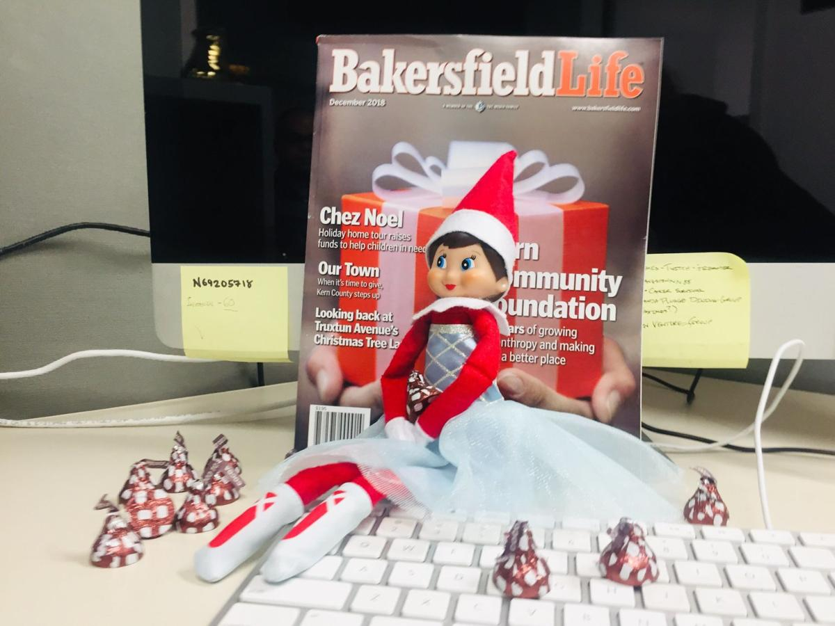 Wendy the Elf enjoys chocolates and Bakersfield Life