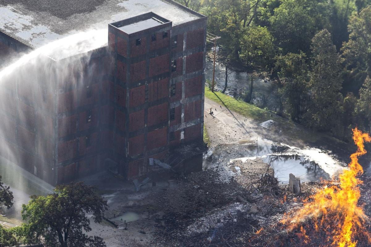 APTOPIX Jim Beam Facility Fire