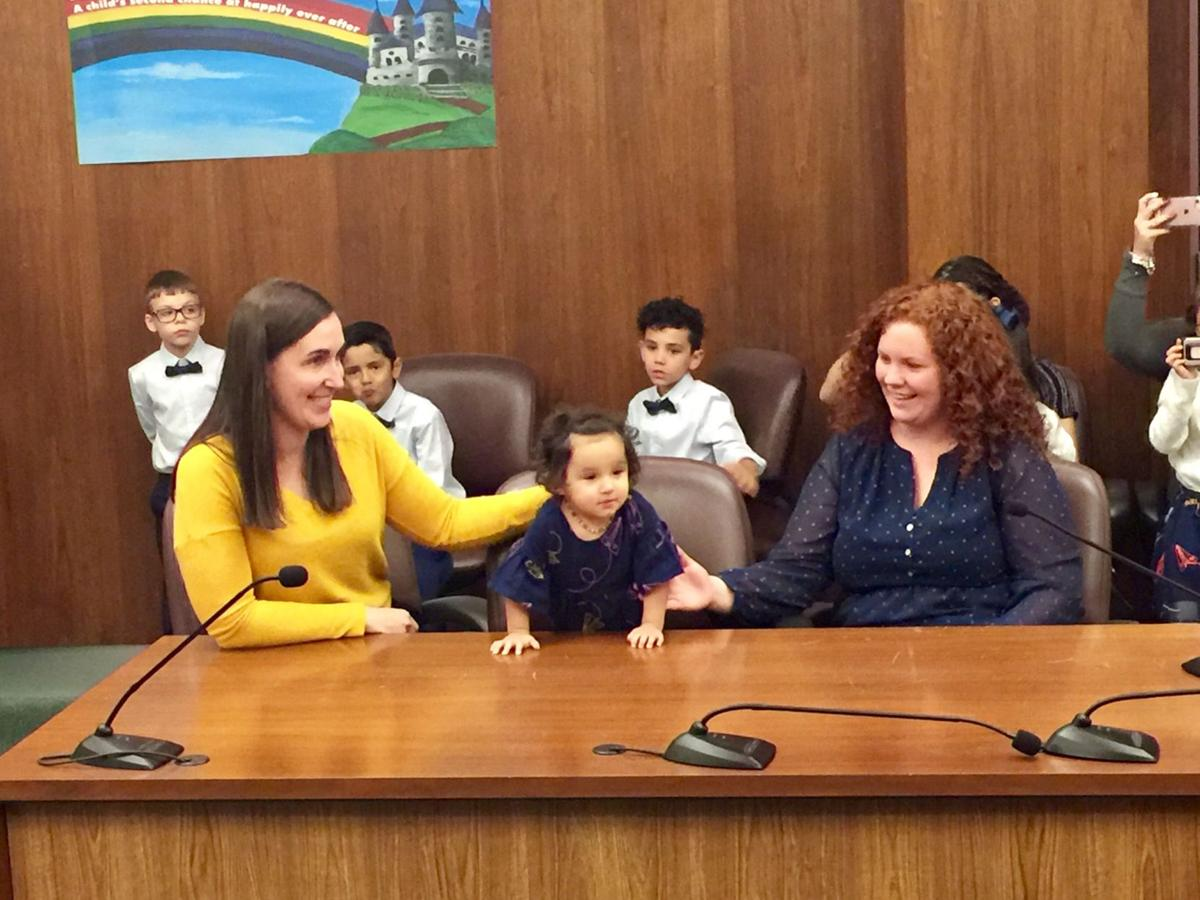 Scores Of Kids Including Lenzy And Kassidy Get Forever Homes On National Adoption Day News Bakersfield Com