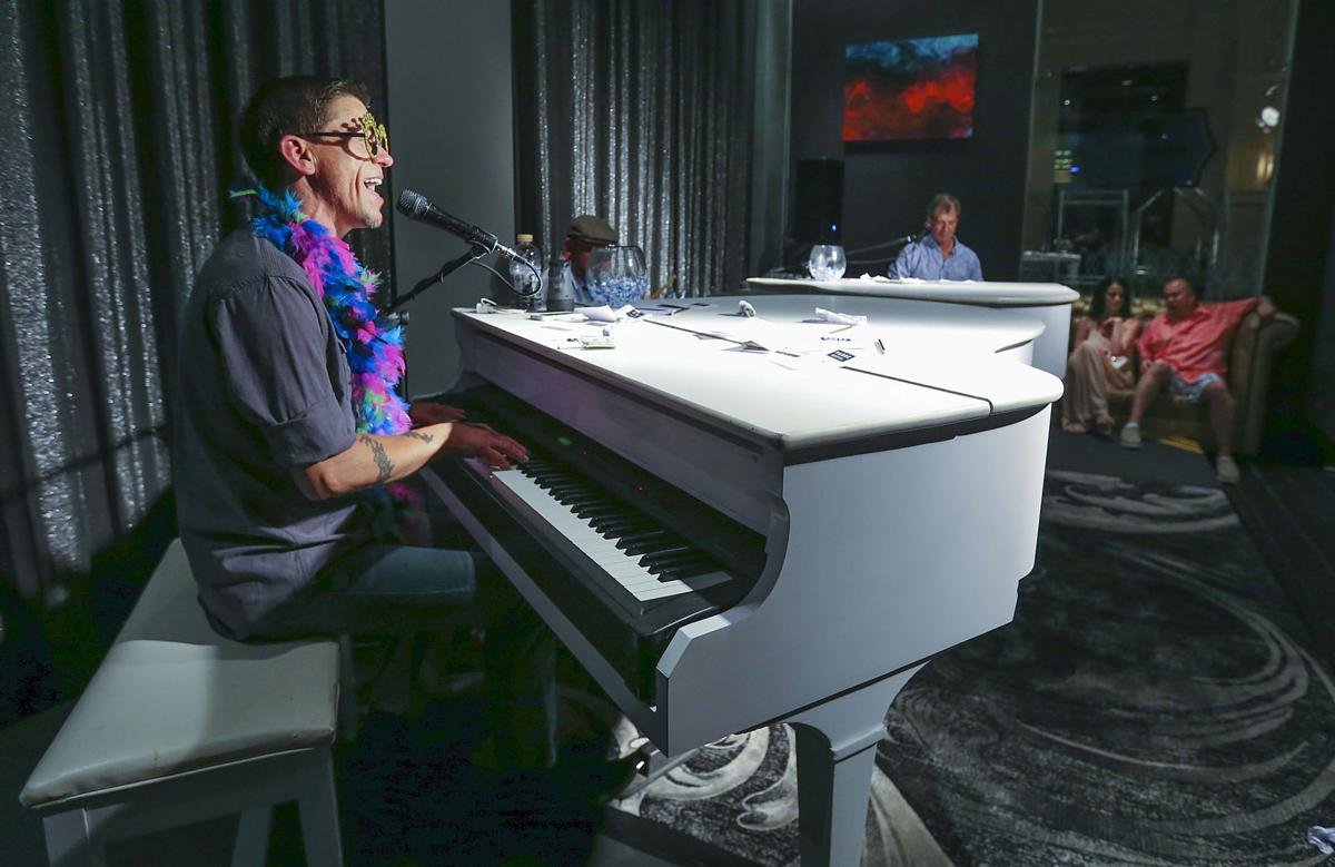 Duel in the fun: Piano acts make scene at Padre Hotel, The Mark