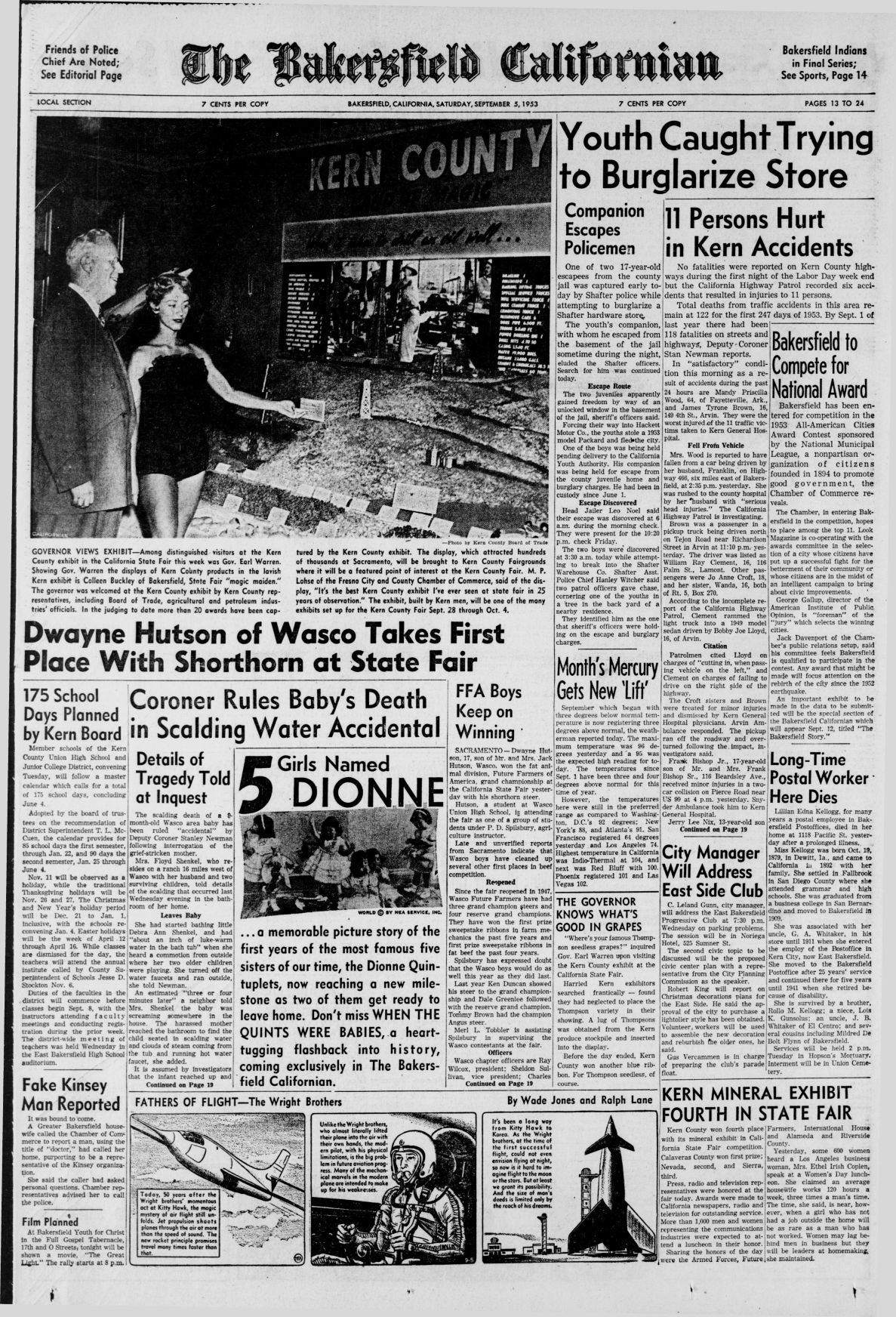 TBC TIME CAPSULE: Sept. 5, 1953
