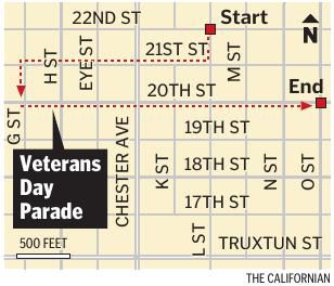 Veterans Parade Route