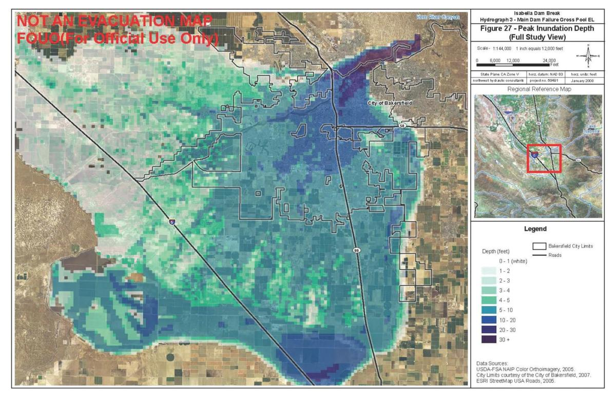 Flood severity map