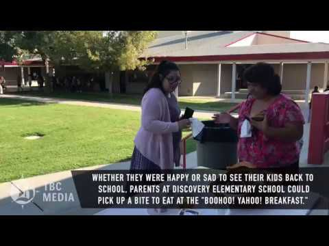 WATCH: Discovery Elementary School welcomes back students
