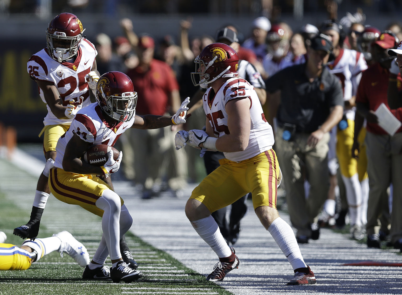 USC squashed a Cal upset bid to stay undefeated