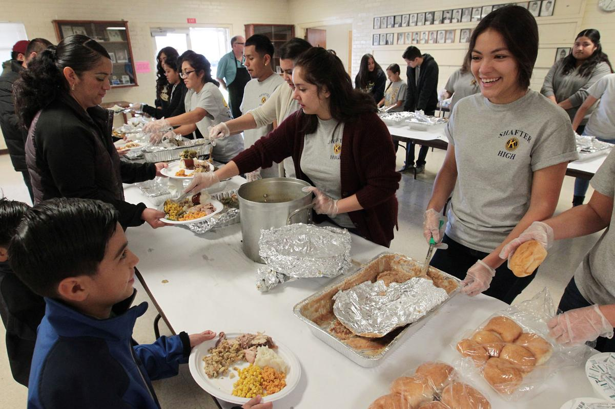 Thanksgiving Meals Dished Out To All Comers In Shafter