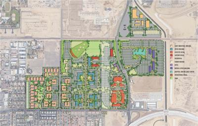 Bakersfield Commons map