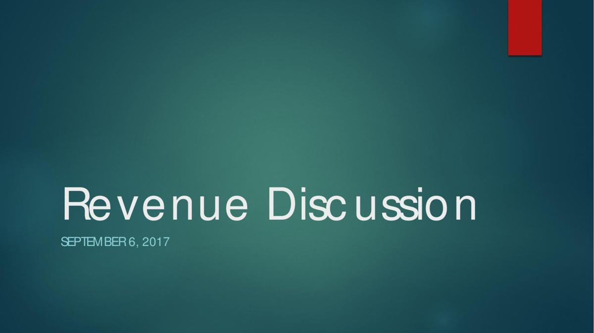 Revenue Discussion