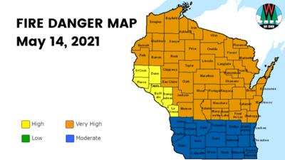 Fire Danger Map 5-14-21
