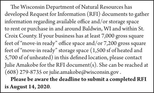 WI DNR submit a completed RFI is August 14, 2020
