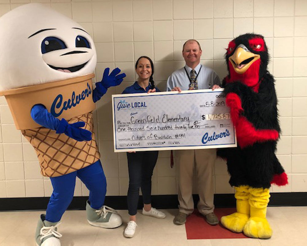 Greenfield makes $1725 on Culvers day