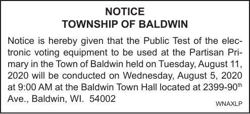 Township of Baldwin Pub Test 8-5-2020