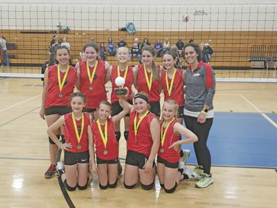 B-W traveling volleyball places 2nd in Championship Tournament