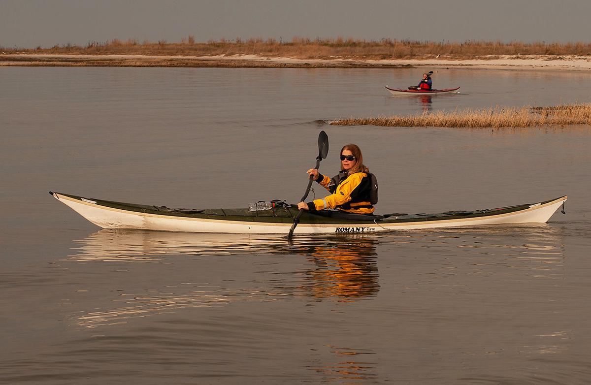 Kayaking near shore