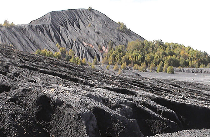 Coal waste pile in PA