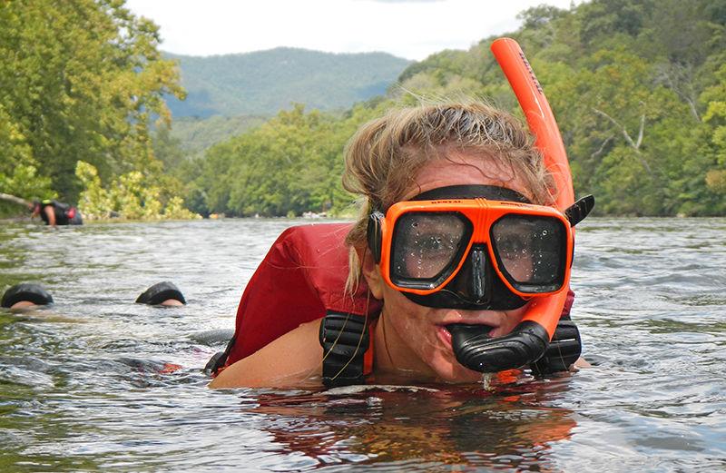 Snorkeling in the Shenandoah River