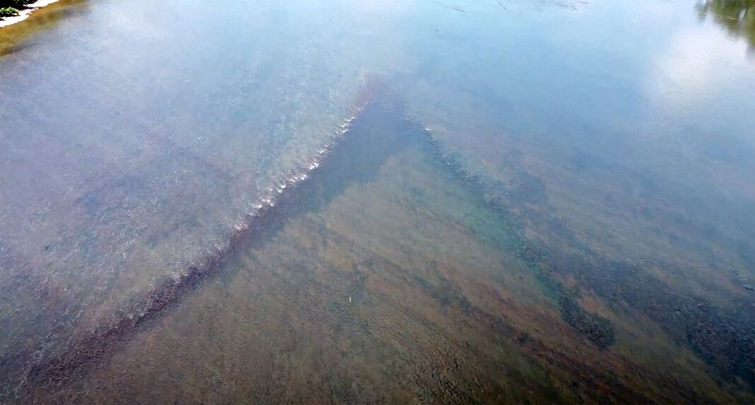 Historic eel weir in Susquehanna
