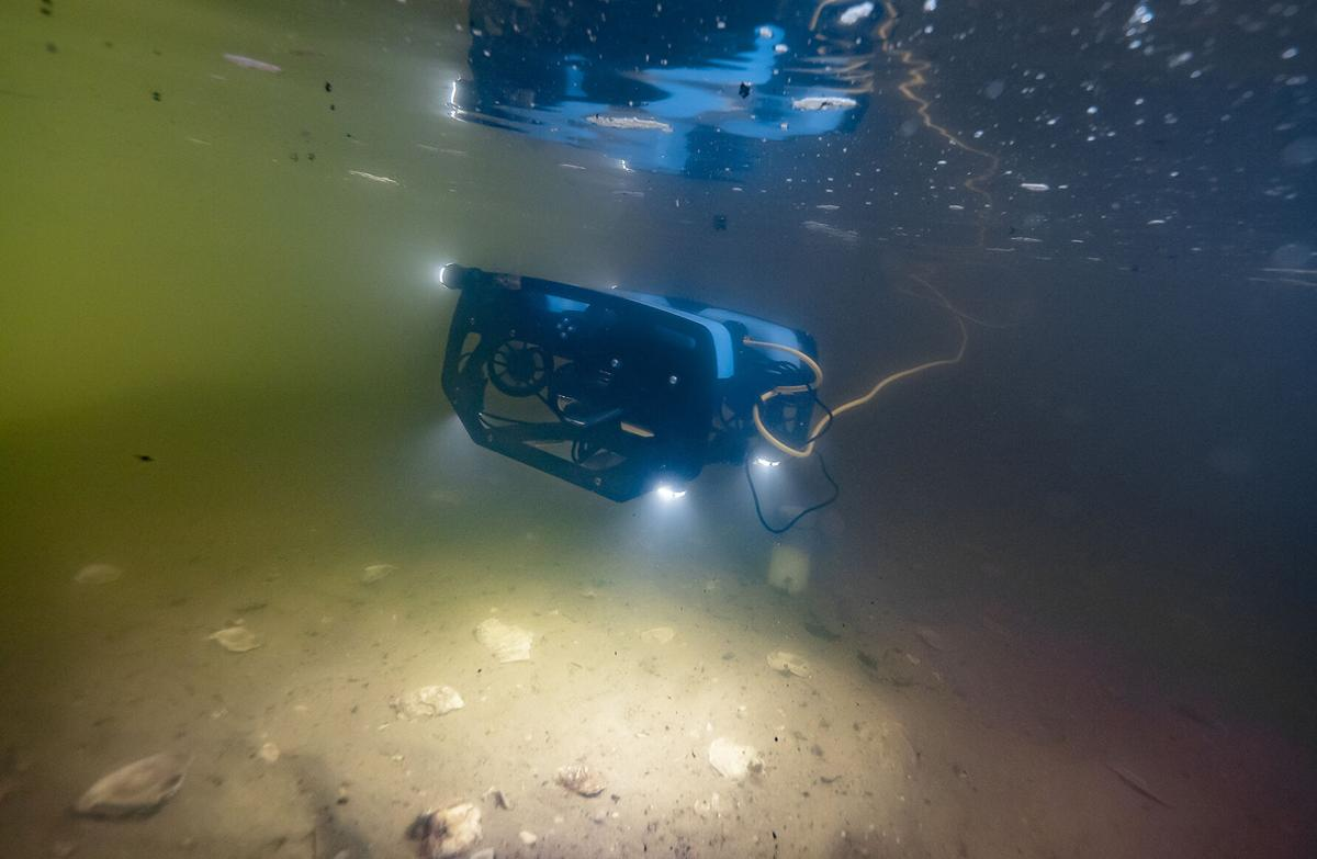 Underwater drone for oyster reefs