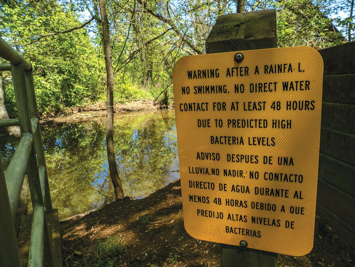 Water contact warning
