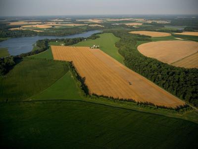 Farmland on MD Eastern Shore aerial