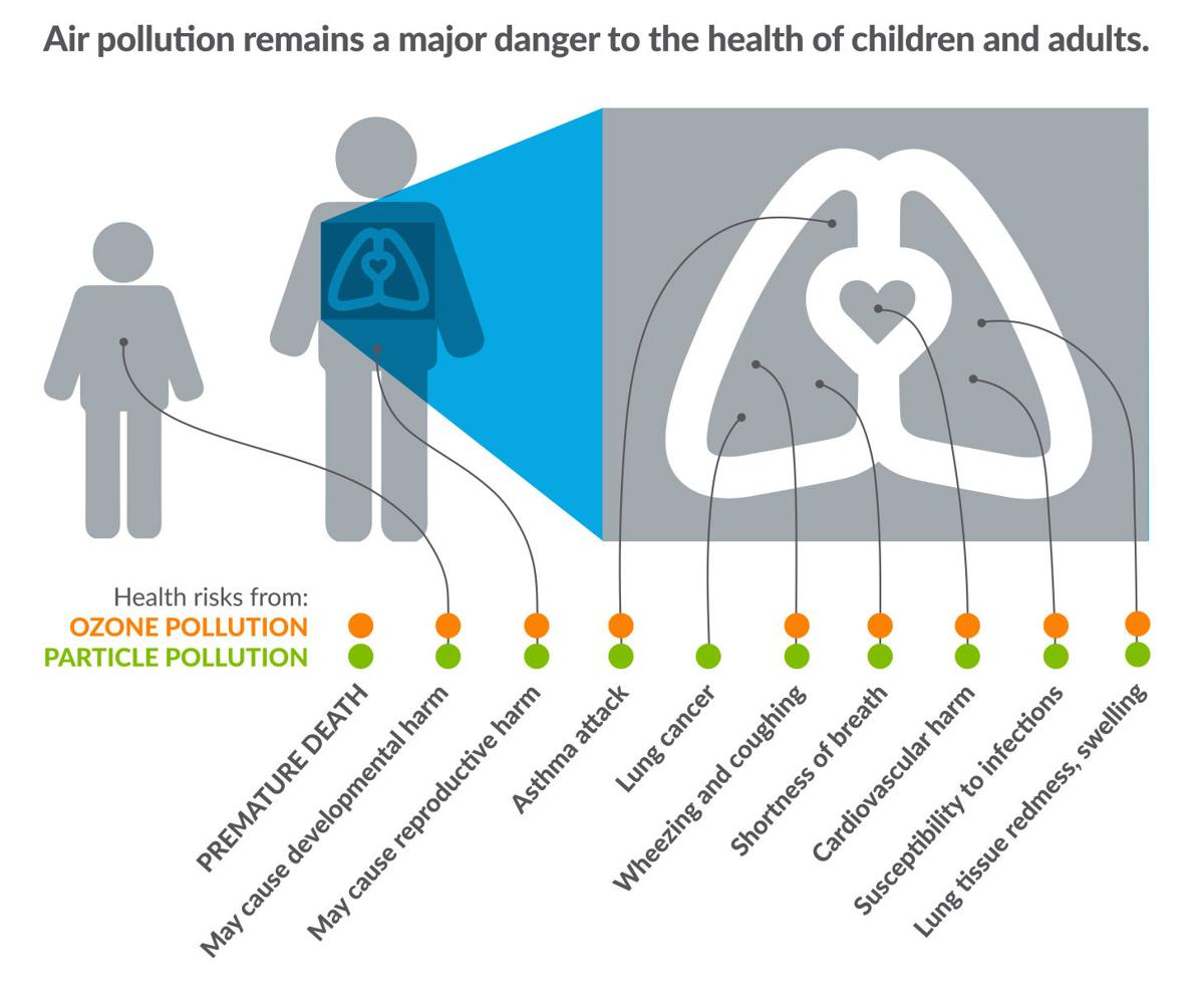 Impacts of air pollution on human health
