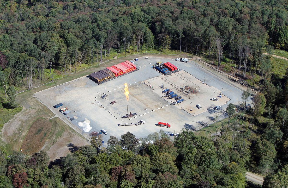 Aerial of PA fracking site