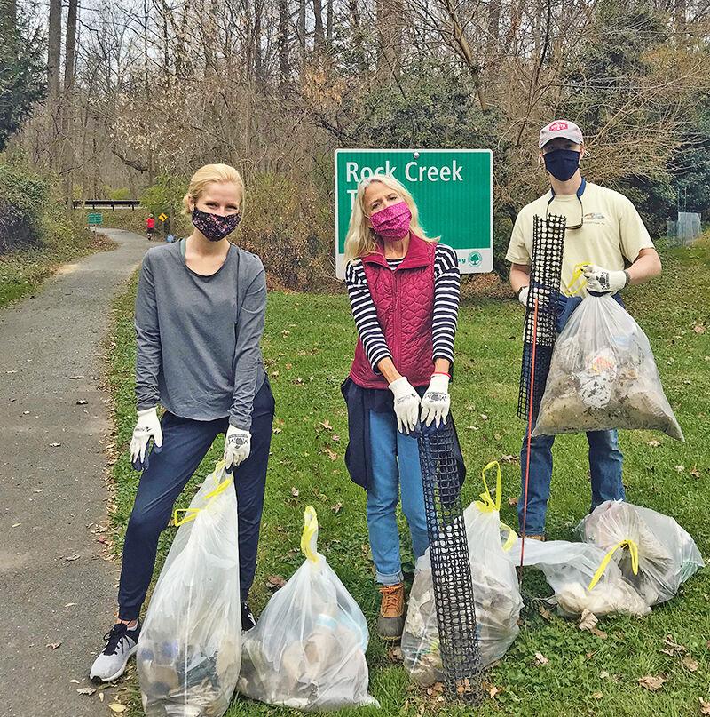 Rock Creek cleanup volunteers