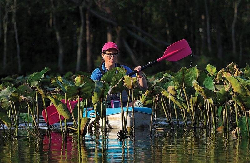Barren Creek kayaker